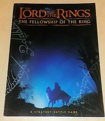 Lord of the Rings THE FELLOWSHIP OF THE RING RULEBOOK oop