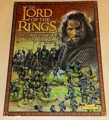 Lord of the Rings THE TWO TOWERS RULEBOOK oop