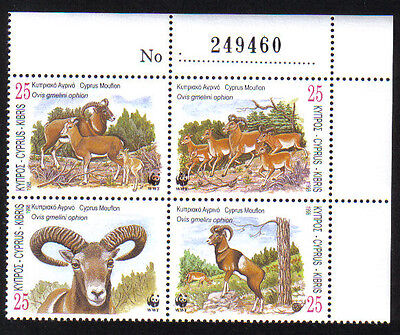Cyprus Stamps SG 941-44 1998 World Wildlife Fund WWF Control Numbers MINT (h763)