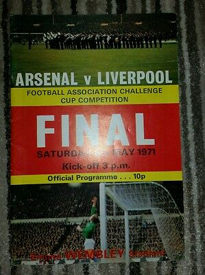 Fa Cup Final 1971 Arsenal V Liverpool Programme