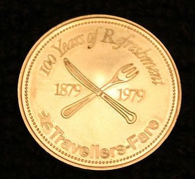 Travellers Fare Coin/token 100 Years Of Refreshment