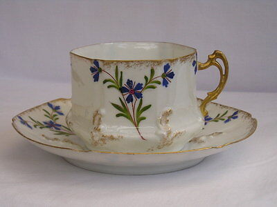 Antique fine quality Limoges France coffee cup and saucer (2 of 4)