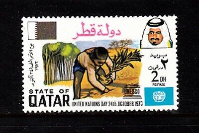 Qatar Sc# 366 United Nations Day October 24,1973 Mnh