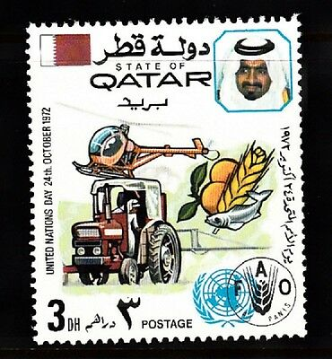 Qatar Sc# 325 United Nations Day October 24, 1972 Mnh