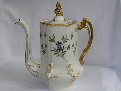Antique fine quality Limoges France large coffee pot and cover