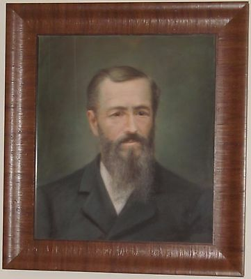 Important Late 19Th Century Pastel Portrait Of Jesse James