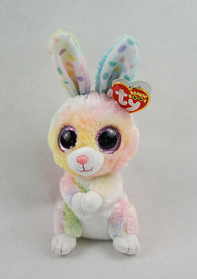 "6"" TY Beanie Boos New Glitter Eyes Bubby Bunny Rabbit Gift Plush Stuffed Toys"