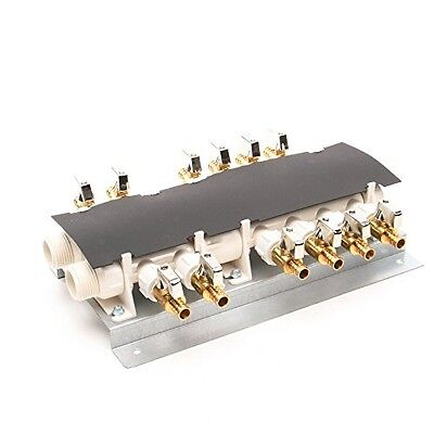 "12 Port PEX Manifold (3/4"" Inlets, 1/2"" Outlets) with Shutoff Valves"