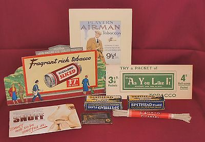 Vintage Cardboard  Counter Adverts Plus Other Smoking Related Items