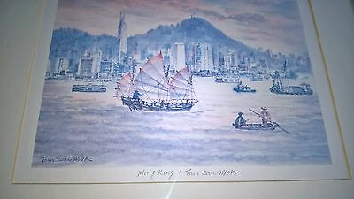 chinese watercolour painting signed tam sau mok