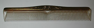 "NOS New Antique Vintage Sterling Silver Comb 8"" long"