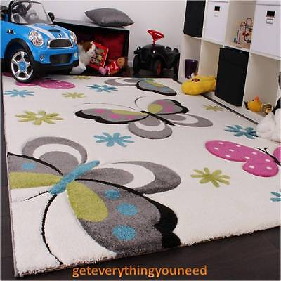 Kids Children Rug Carpet Butterfly Non-toxic Floor Heating Playroom Multicolored