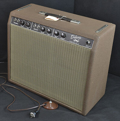 Vintage 1963 Fender Deluxe Amp Brown face EXC !!!