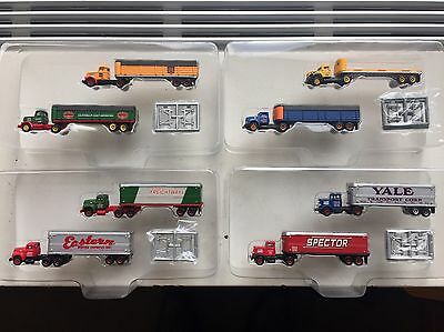 Lot Of 8 N Scale CMW Classic Metal Works Trucks With Trailers