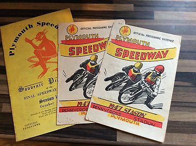 Plymouth Speedway Programmes 1947 x 3