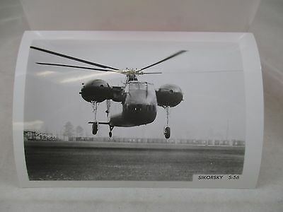 Vintage B&W 3.5x5 Air Craft Helicopter Sikorsky S-56 Photo #373
