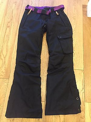 No Fear Black Ski Trousers Size 8