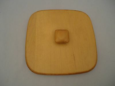 "Square Longaberger Woodcrafts Basket LID ONLY about 7"" x 7"""