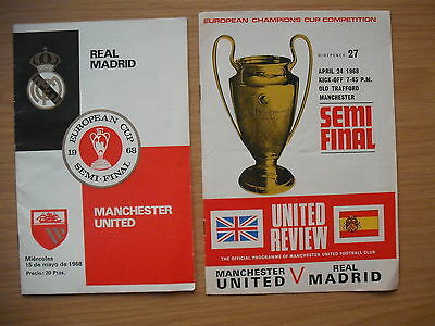 MANCHESTER UNITED v REAL MADRID - BOTH LEGS EUROPEAN CUP SEMI FINALS 1968
