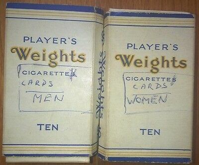 Cigarette Packets - Player's Weights