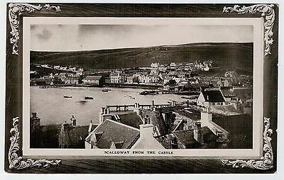 Shetland - Rare early 1900's view of Scalloway, published by James Williamson.