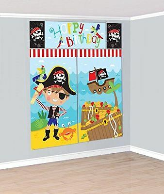 Amscan 670536 Little Pirate Scene Setter Decorating Kit