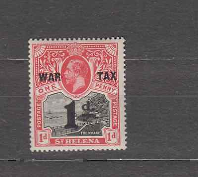 St Helena 1919 War Tax Surcharge Mint Hinged
