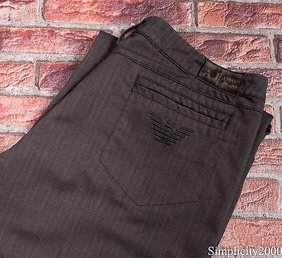 ARMANI JEANS Men Straight Classic Fit Grey Trousers Size W31 L30