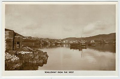 Shetland - Card by E. Sinclair (Lerwick) of Scalloway from the west.