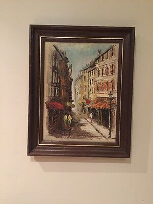 CONTINENTAL STREET SCENE,CORNISH ARTIST,JOHN BAMPFIELD,oil On Canvas