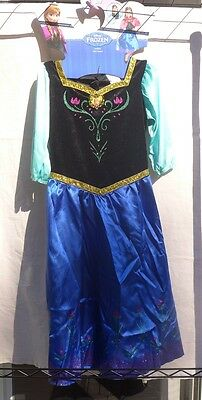 NWT Disney Princess Frozen Anna Dress Up Costume Gown Cape Sz M 7-8