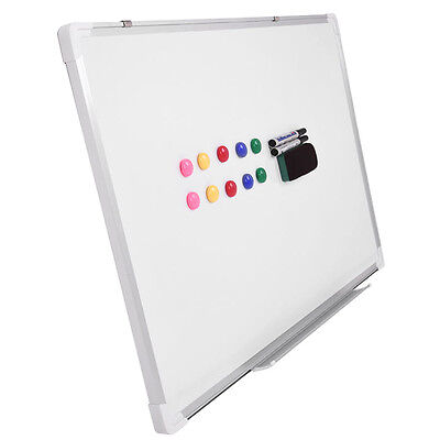 Large Magnetic White Board 900X600MM Dry wipe Plastic Aluminum Frame Home School