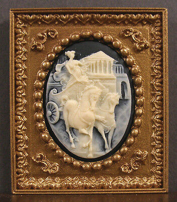 FRAMED  3D  CAMEO  PICTURE - Handcrafted - Jim Coates ~ Dollhouse ~ 1:12 scale