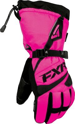 Fxr Fusion Snowmobile Gloves Waterproof Reflective Womens Large Fuchsia Pink