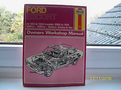 Haynes Owners Workshop Manual For Ford Escort 1968 To 1974