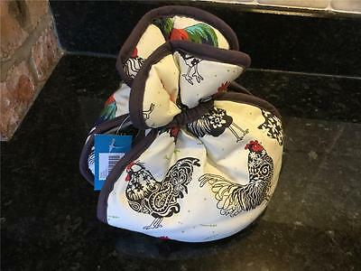 Ulster Weavers Gift ware Rooster Tea Pot Muff Cosy Farm Hens Chickens Kitchen