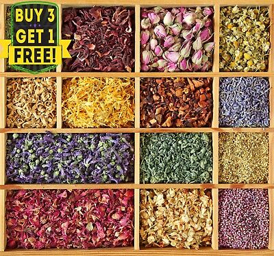 Dried Flowers, Dried Petals Edible Cake Decoration Tea Infusion Tincture Cooking