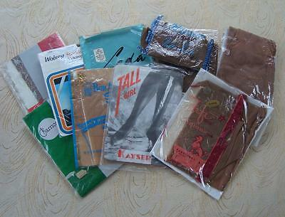 B34 - Lot Of 10 Pairs Of Vintage Seamed Stockings