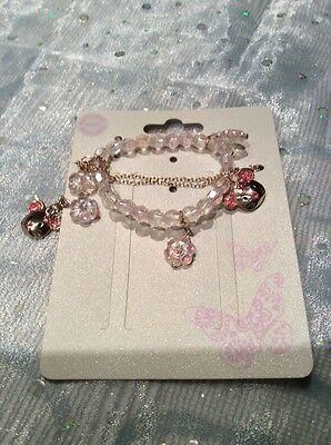 monsoon girls braclet and necklace mouse set new