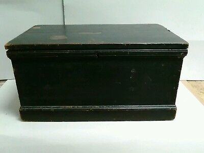 Lovely 19th Century Lacquered Pine Chest.