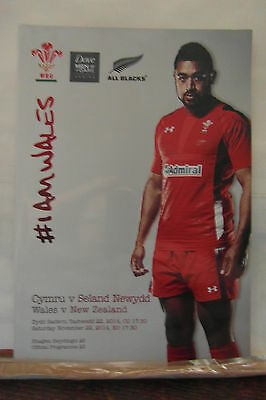 2014 WALES V NEW ZEALAND rugby union programmes