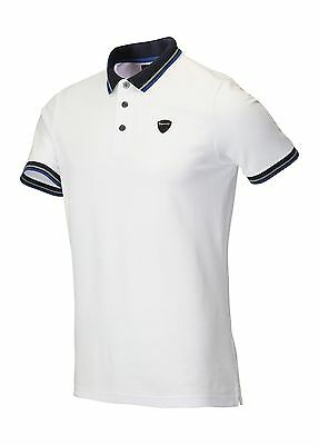 Dwyers & Co. Tipped Collar Polo Shirt White Large