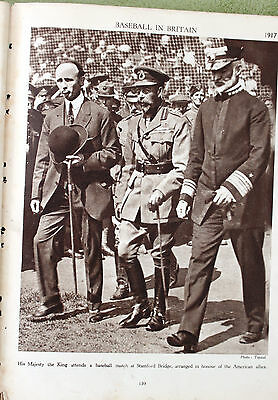1917 Photo - King George V Attends A Baseball Match At Stamford Bridge London