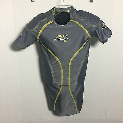 RIDDELL power football protective padded Compression Shirt Youth Small
