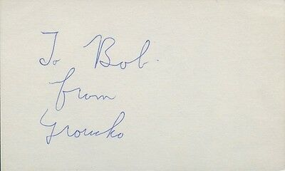 Marx Brothers GROUCHO MARX In-person Autograph