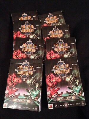 The Eye Of Judgement PS3 - Starter x 8 Deck Packs - New condition from 2007 (G25