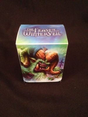 WOW World of Warcraft Plastic Deck Box +  Divider - The Feast of Winterveil (G23
