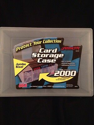PLANO Jammers - Trading Card Storage Case holds 2000 standard cards USA made (G)