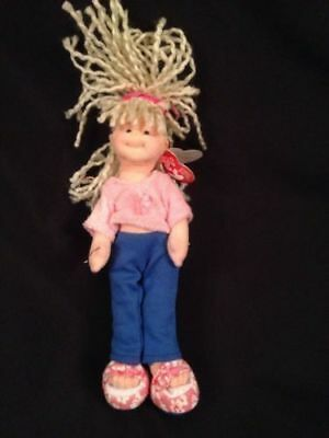 "TY Beanie Boppers - 2002 Sweet Sally 8"" Wired TY plush - New with tags (G24"
