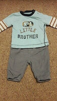 boys next trousers and top newborn (1 mths)